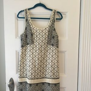 Free People Embroidered Mini Shift Dress